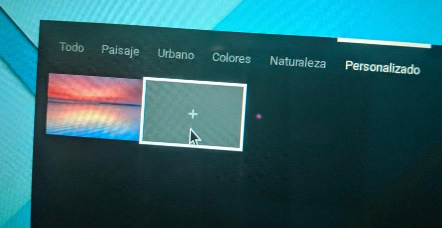 Cambiar fondo de pantalla en Chromebook